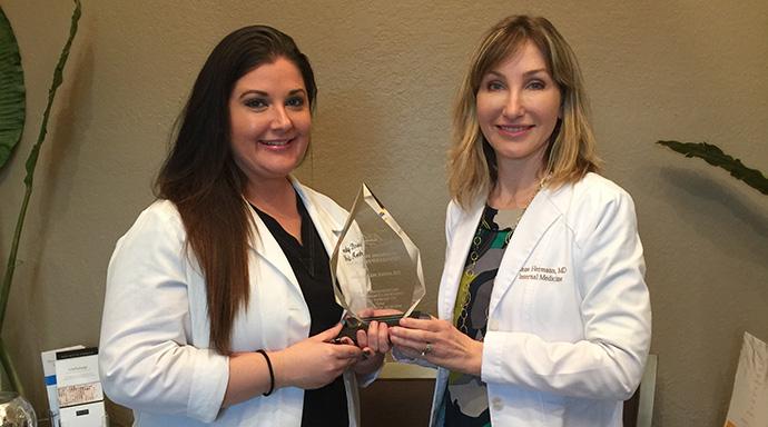 Dr Hermann wins black diamond award from Allegan
