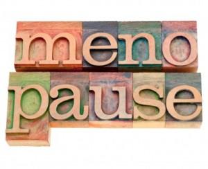menopause word in letterpress type